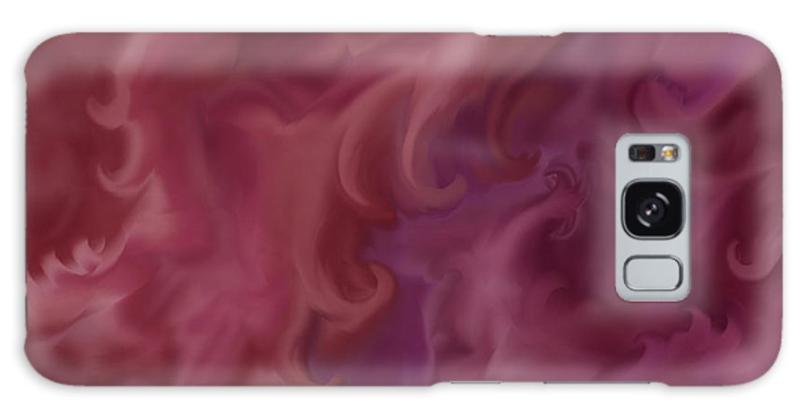 Fantasy Galaxy Case featuring the painting Phoenix Rising by Anne Norskog