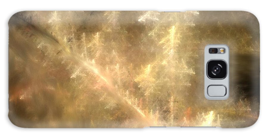 Abstract Digital Painting Galaxy S8 Case featuring the digital art Phosphorescent Forest by David Lane