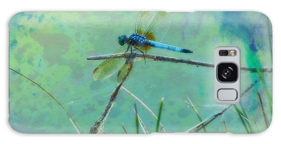 Photo Painted Dragonfly Galaxy S8 Case featuring the photograph Photo Painted Dragonfly by Kathy M Krause