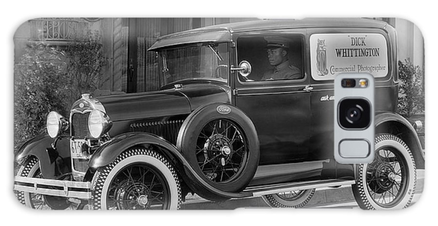 1 Person Galaxy S8 Case featuring the photograph Photographer's 1928 Truck by Underwood Archives