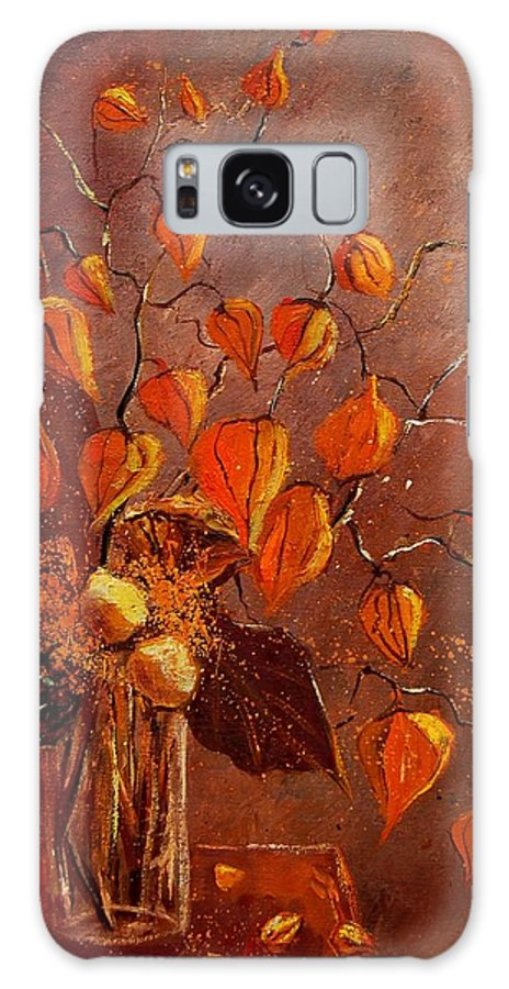Poppies Galaxy S8 Case featuring the painting Physialis by Pol Ledent