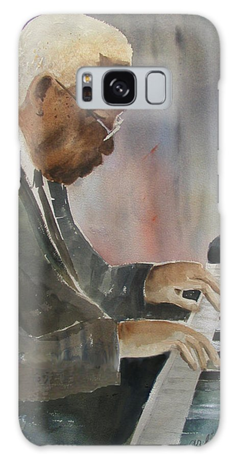 Pianist Galaxy S8 Case featuring the painting Piano Jazz by Arline Wagner