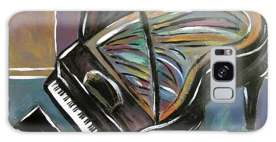 Impressionist Galaxy Case featuring the painting Piano With High Heel by Anita Burgermeister