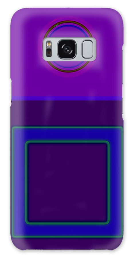 Classical Galaxy S8 Case featuring the digital art Piazza Purple by Charles Stuart