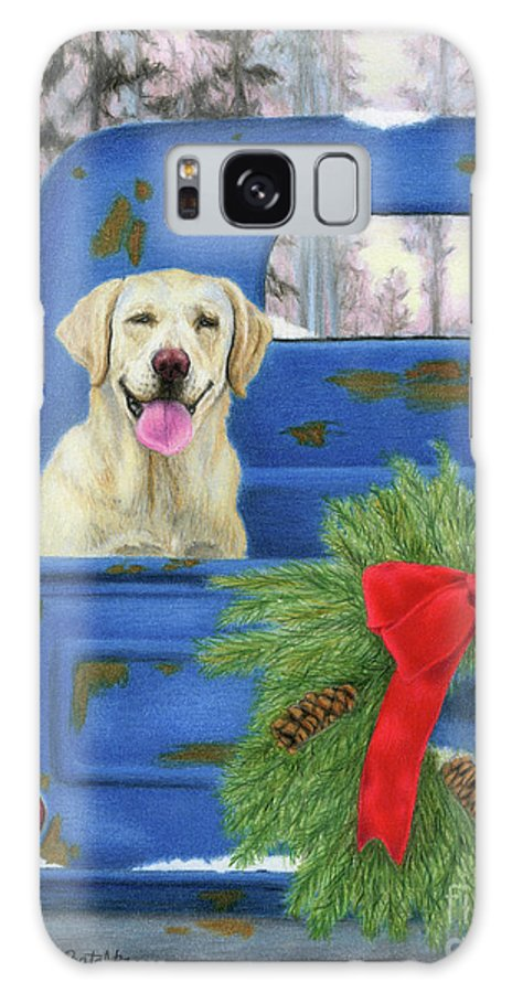Christmas Galaxy S8 Case featuring the painting Pick-en Up The Christmas Tree by Sarah Batalka