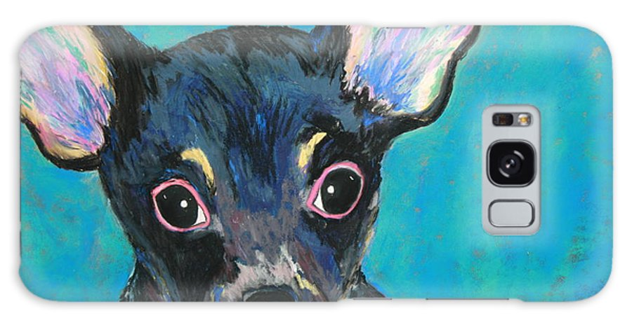 Dog Galaxy S8 Case featuring the painting Pico by Melinda Etzold
