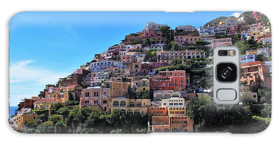 Positing Galaxy S8 Case featuring the photograph Picture Perfect Positano. by Colleen Bessel