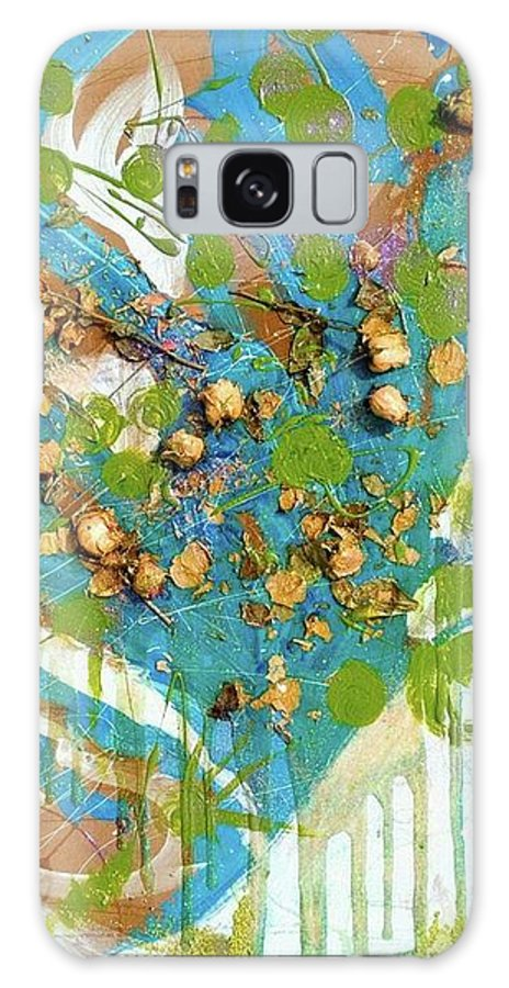 Flowers Galaxy S8 Case featuring the mixed media Pieces Of Me by Christina Bolinger