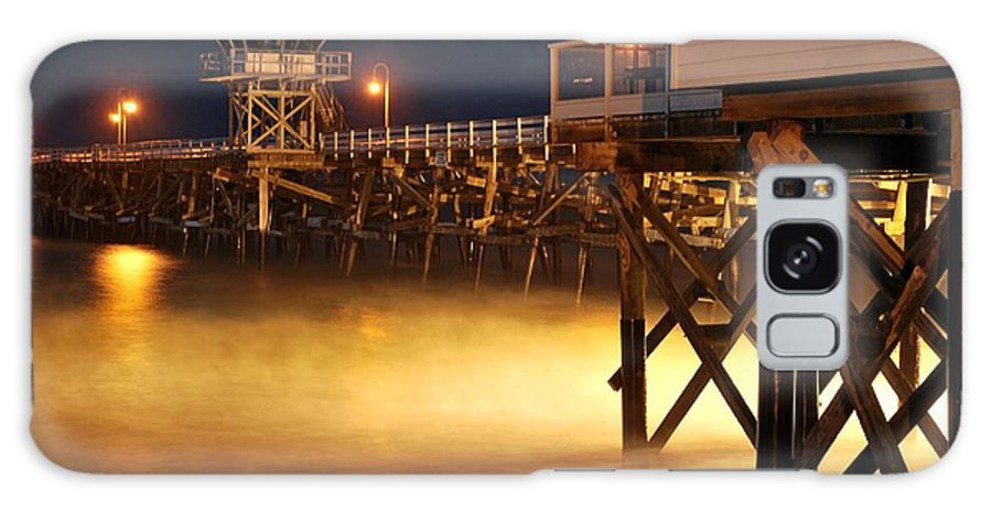 Long Exposure Galaxy S8 Case featuring the photograph Pier At Night by Stephanie Haertling