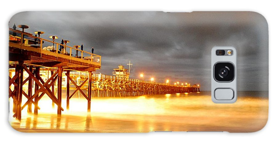 Pier Galaxy S8 Case featuring the photograph Pier On Fire by Stephanie Haertling