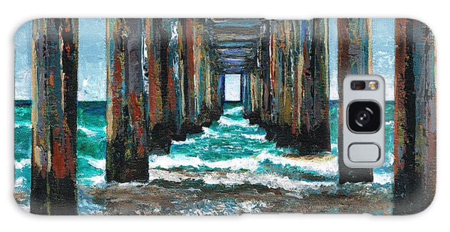 Ocean Galaxy Case featuring the painting Pier One by Frances Marino
