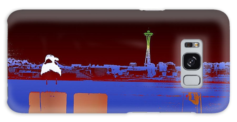 Seattle Galaxy S8 Case featuring the digital art Pier With A View by Tim Allen