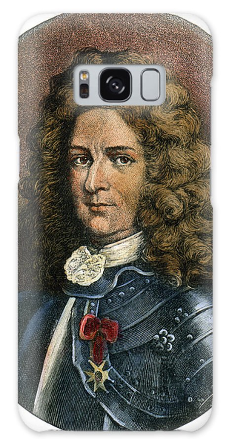 Colonist Galaxy S8 Case featuring the drawing Pierre Lemoyne, 1661-1706 by Granger