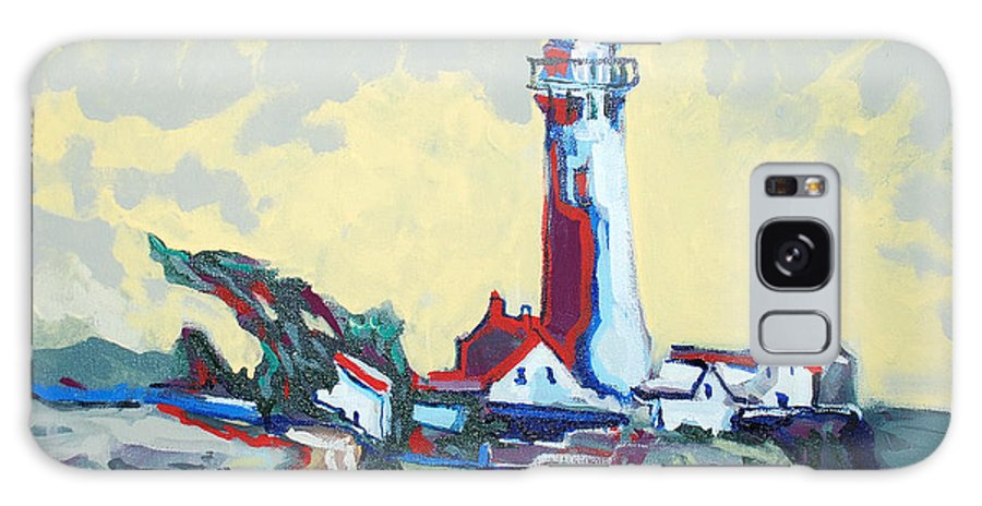 Ligthouse Galaxy Case featuring the painting Pigeon Point by Kurt Hausmann