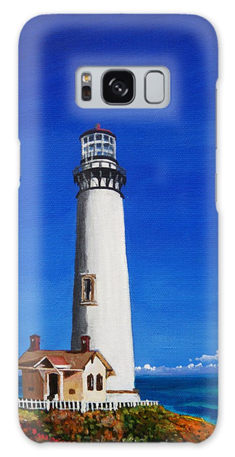 Lighthouses Galaxy S8 Case featuring the painting Pigeon Point Lighthouse by Anne Marie Brown