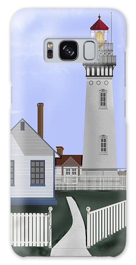 Lighthouse Galaxy S8 Case featuring the painting Pigeon Point Lighthouse California by Anne Norskog