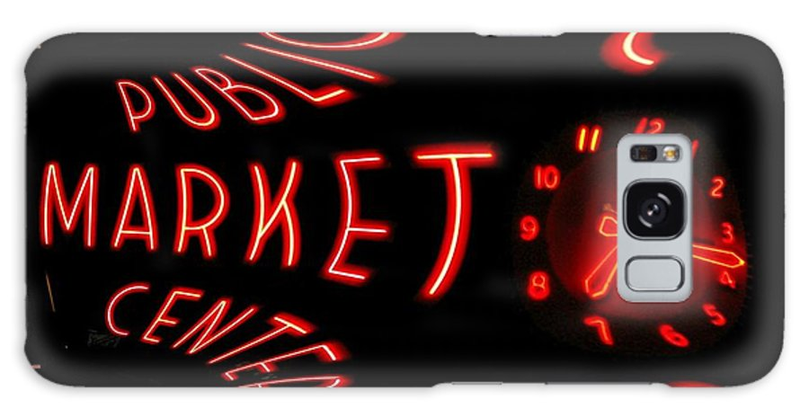 Seattle Galaxy S8 Case featuring the digital art Pike Place Market Entrance 6 by Tim Allen