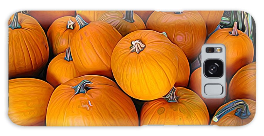 Pile Of Pumpkins For Sale Expressionist Effect Galaxy S8 Case featuring the photograph Pile Of Pumpkins For Sale Expressionist Effect by Rose Santuci-Sofranko
