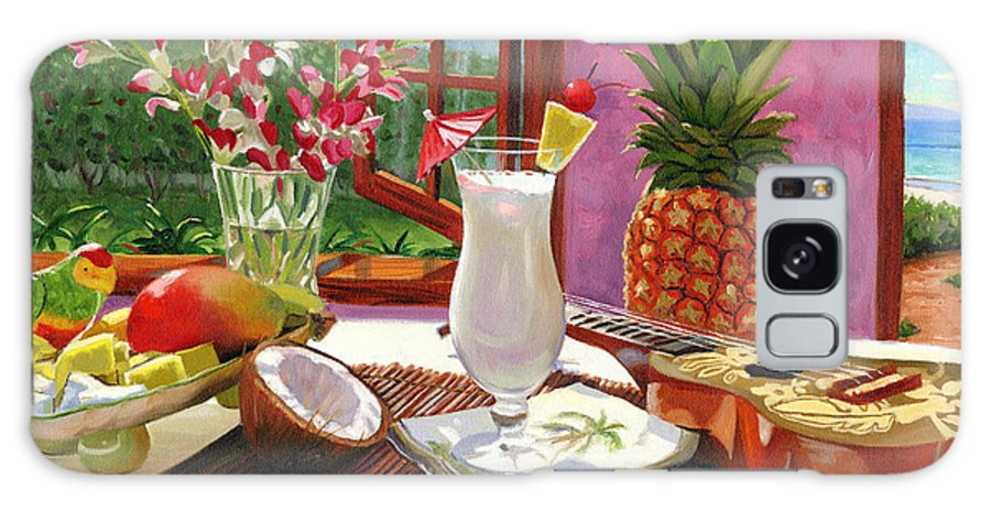 Pina Colada Galaxy Case featuring the painting Pina Colada by Steve Simon