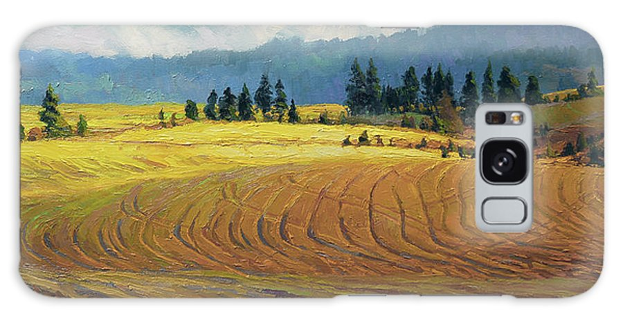 Country Galaxy Case featuring the painting Pine Grove by Steve Henderson