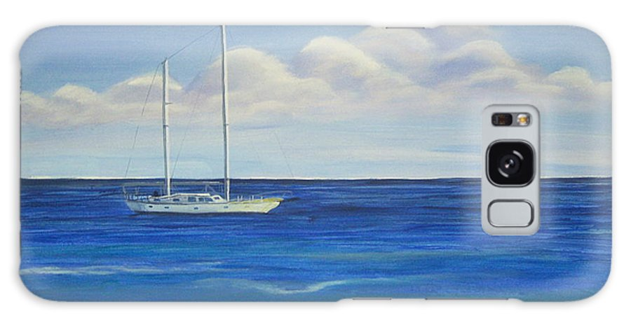 Sailboat Galaxy S8 Case featuring the painting Pine Island Sailboat by Nancy Nuce