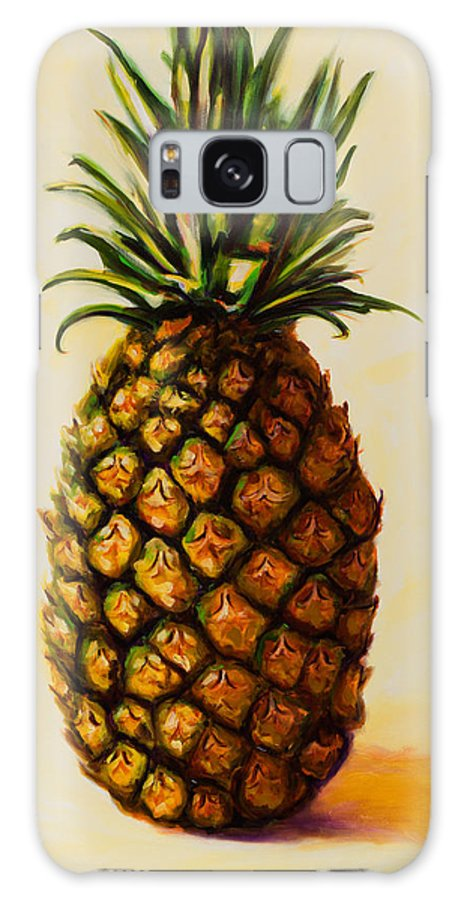 Pineapple Galaxy S8 Case featuring the painting Pineapple Angel by Shannon Grissom