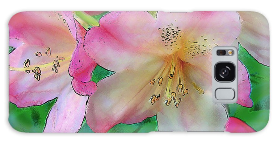 Ebsq Galaxy Case featuring the photograph Pink Azalea by Dee Flouton