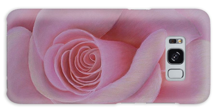 Rose Galaxy S8 Case featuring the painting Pink Blush by Mary Erbert