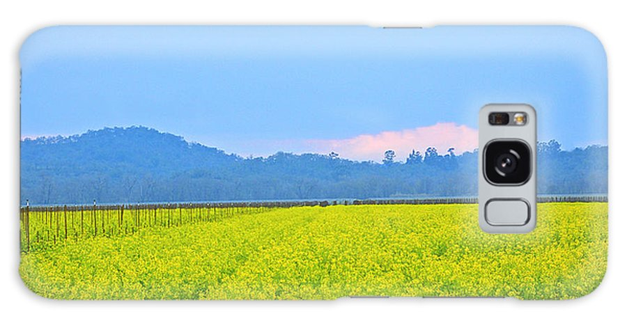 Mustard Galaxy S8 Case featuring the photograph Pink Cloud Over The Mustard Fields by Tom Reynen