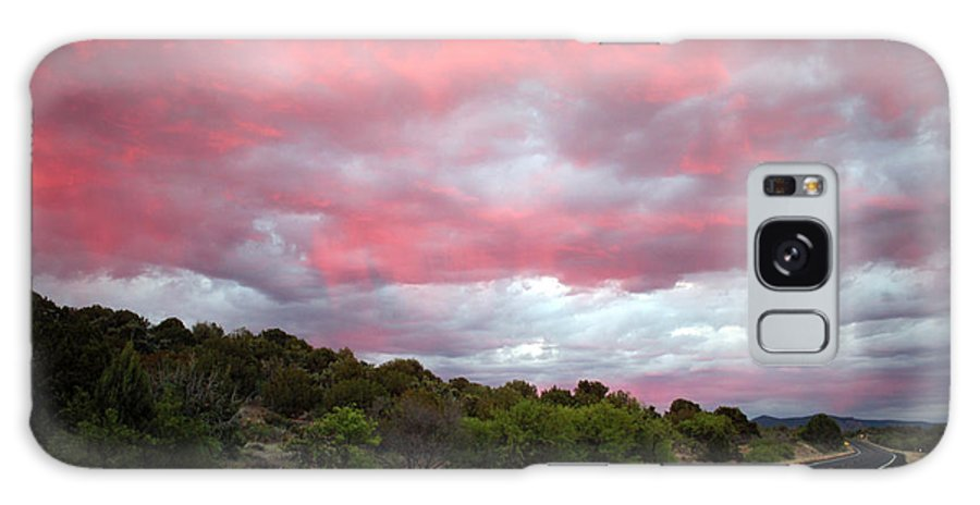 Clouds Galaxy S8 Case featuring the photograph Pink Clouds Over Arizona by Carol Groenen