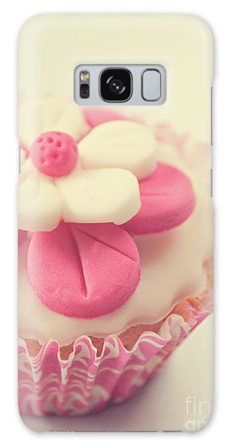 Cupcake Galaxy Case featuring the photograph Pink Cupcake by Lyn Randle