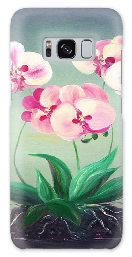 Original Galaxy S8 Case featuring the painting Pink Orchids 2 by Gina De Gorna