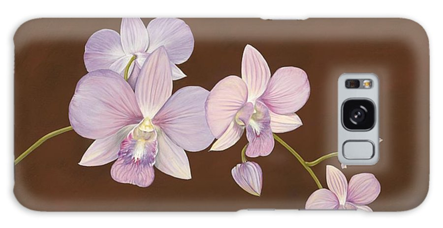 Orchid Galaxy S8 Case featuring the painting Pink Orchids by Shawn Stallings