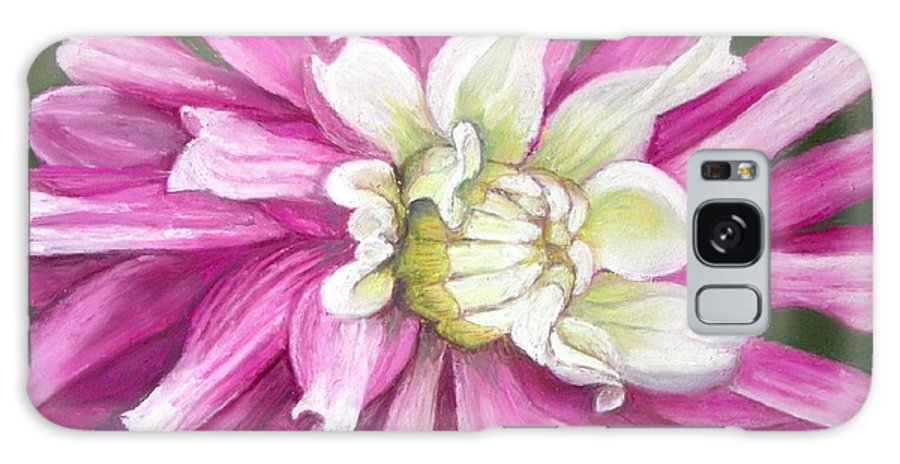 Floral Galaxy Case featuring the painting Pink Petal Blast by Minaz Jantz