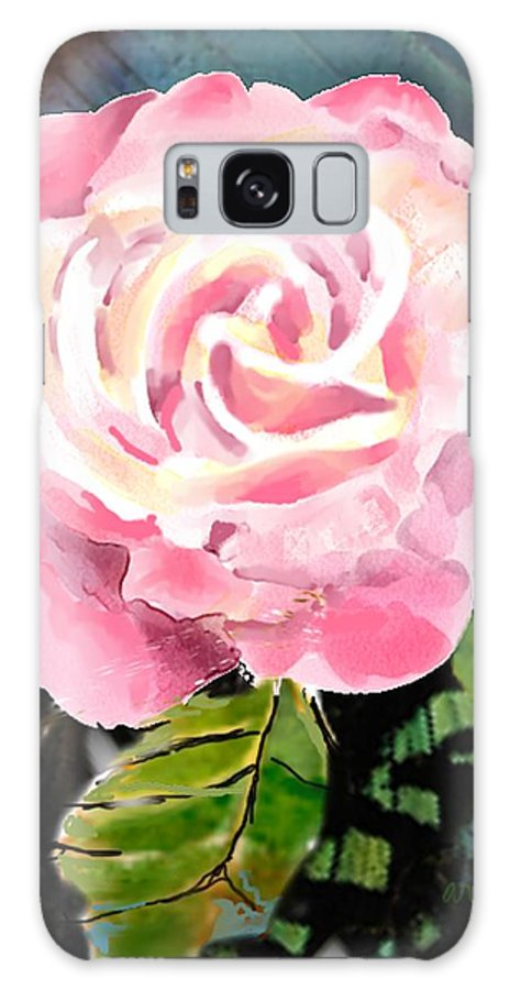 Rose Galaxy S8 Case featuring the digital art Pink Rose by Arline Wagner