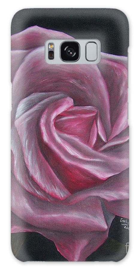 Rose Galaxy Case featuring the painting Pink Rose by Emily Young