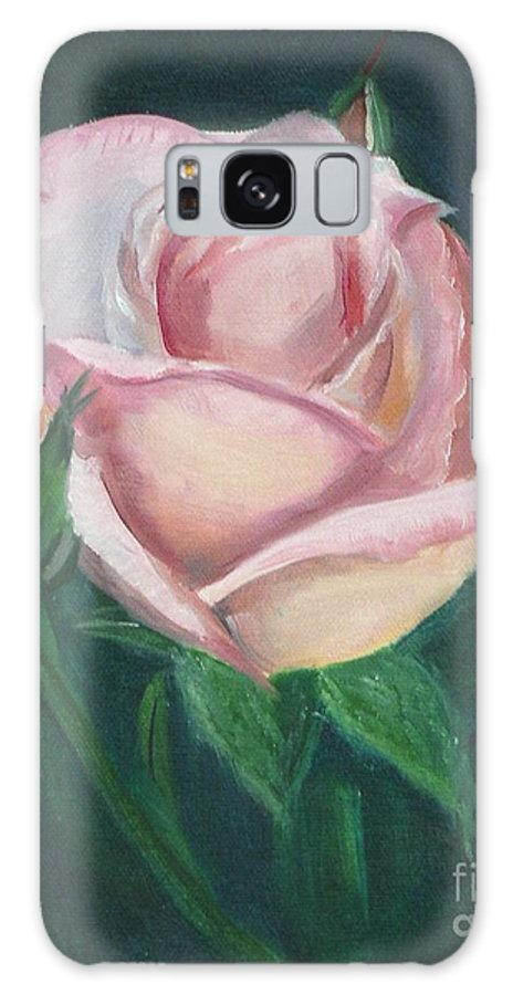 Rose Galaxy S8 Case featuring the painting Pink Rose by Mendy Pedersen