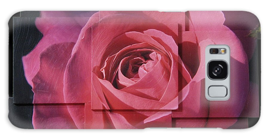Rose Galaxy Case featuring the sculpture Pink Rose Photo Sculpture by Michael Bessler