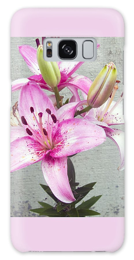 Day Lily Galaxy S8 Case featuring the photograph Pink by Roseann Amaranto