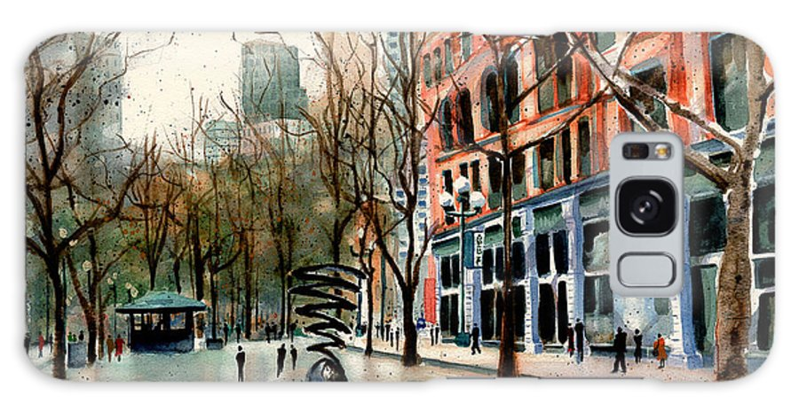 Pioneer Square Galaxy S8 Case featuring the painting Pioneer Square by Marti Green
