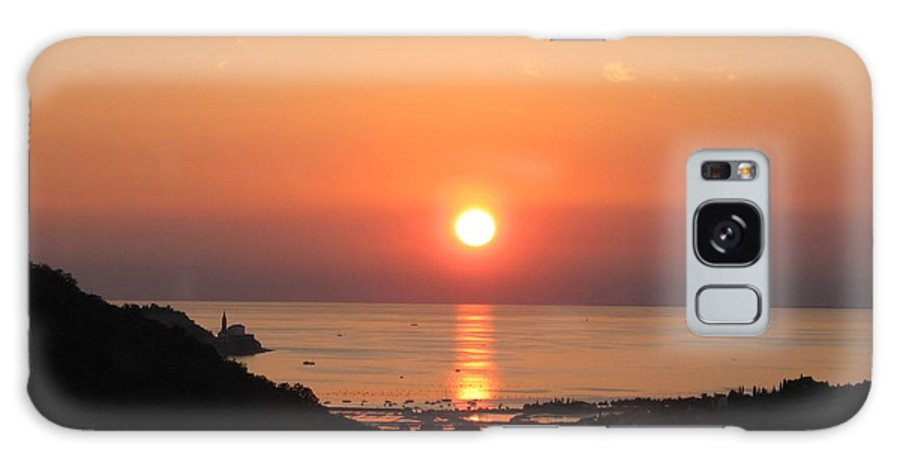 Sunset Sea Galaxy S8 Case featuring the photograph Piran's Sunset I by Dragica Micki Fortuna