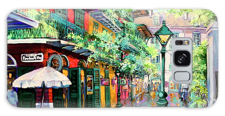 New Orleans Art Galaxy Case featuring the painting Pirates Alley - French Quarter Alley by Dianne Parks