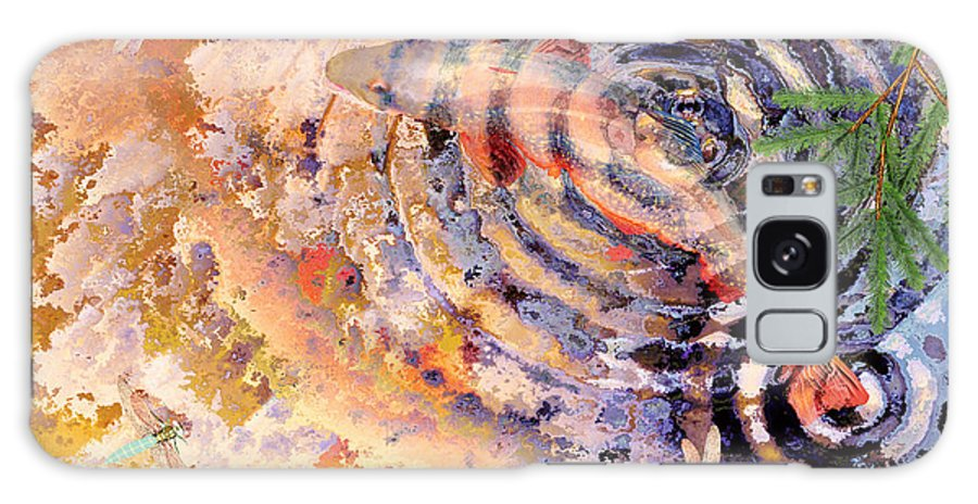 Pond Galaxy S8 Case featuring the painting Pisces by Peter J Sucy