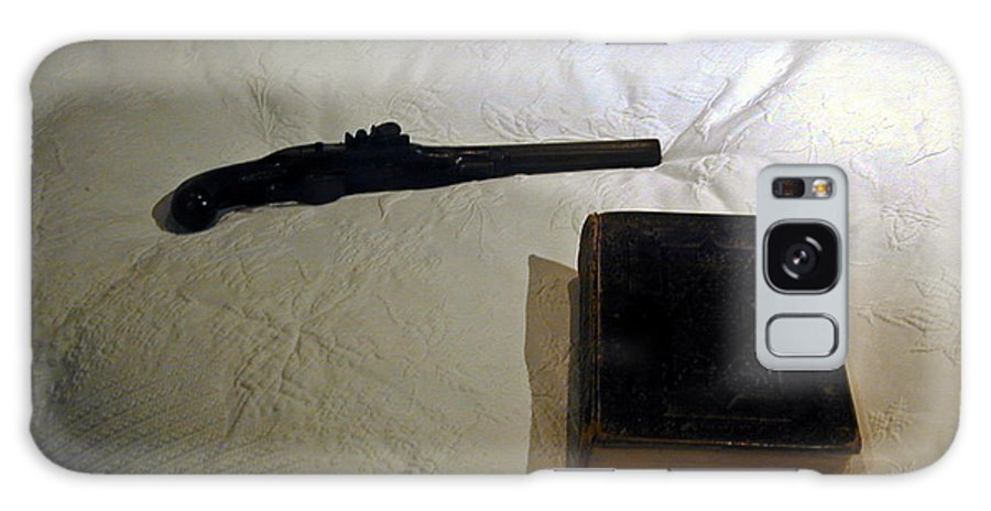 Pistol Galaxy Case featuring the photograph Pistol And Bible by Douglas Barnett