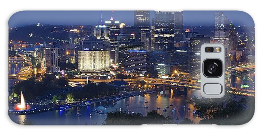 Pittsburgh Galaxy S8 Case featuring the photograph Pittsburgh Blue Hour Panoramic by Frozen in Time Fine Art Photography