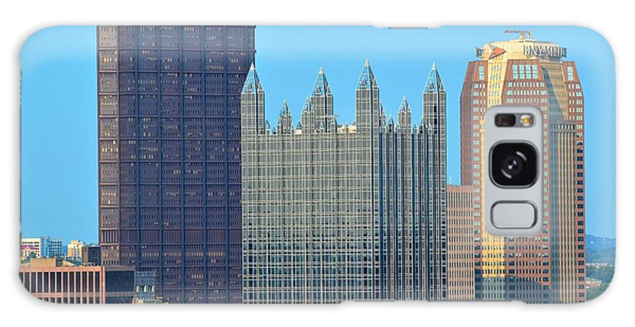 Pittsburgh Galaxy S8 Case featuring the photograph Pittsburghs Big Three by Frozen in Time Fine Art Photography