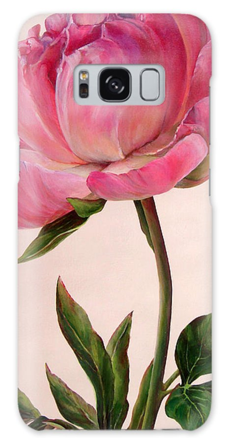 Floral Painting Galaxy S8 Case featuring the painting Pivoine by Muriel Dolemieux
