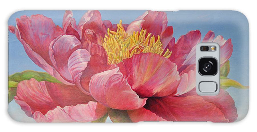 Floral Painting Galaxy S8 Case featuring the painting Pivoine Ouverte by Muriel Dolemieux