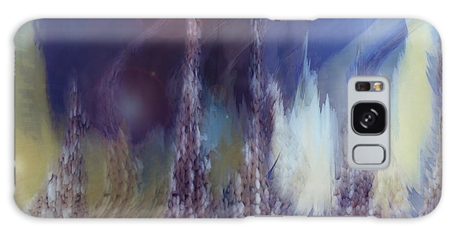 Abstract Galaxy S8 Case featuring the digital art Pixel Dream by Linda Sannuti