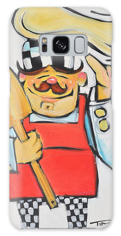 Chef Galaxy S8 Case featuring the painting Pizza Chef by Tim Nyberg